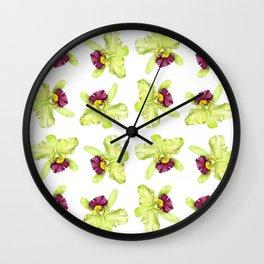 Cattleya Orchids Wall Clock