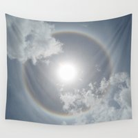 halo Wall Tapestries featuring Sun Halo by Plenty Culture