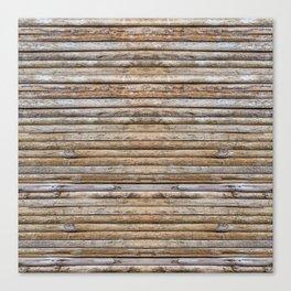 Wood Effects Raw Wood Log Cabin Lodge Rustic Canvas Print