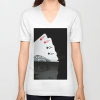 ace V-neck T-shirts featuring ACE!!!! by Brian Raggatt