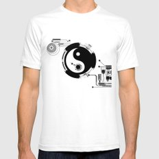 Tech Yin Yang Mens Fitted Tee White SMALL