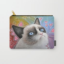 Sad Cat, This is my Happy Face, Tardar Sauce Carry-All Pouch