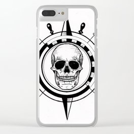 Skull Compass Clear iPhone Case