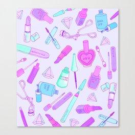 Sassy Makeup Canvas Print