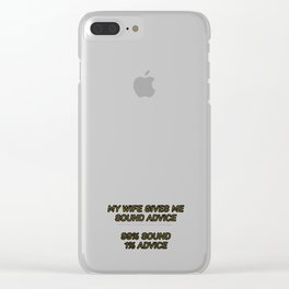 Sound Advice Clear iPhone Case
