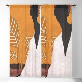 Tropical Girl 6 Blackout Curtain