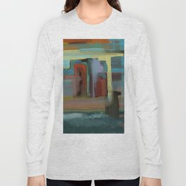 Abstract City, Southwestern Colors Long Sleeve T-shirt