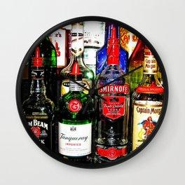 Liquor Bottles Wall Clock