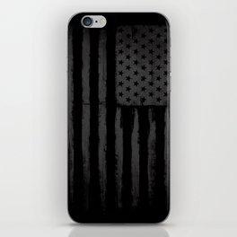 Grey American flag iPhone Skin
