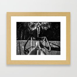 On the count of three Framed Art Print