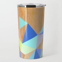 Wooden Geo Aqua Travel Mug
