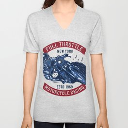 Motorcycle Racing 1969 Unisex V-Neck