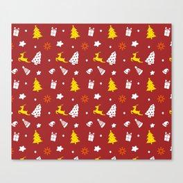Red Winter Stuff Canvas Print