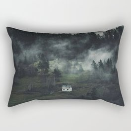Foggy Cottage Rectangular Pillow