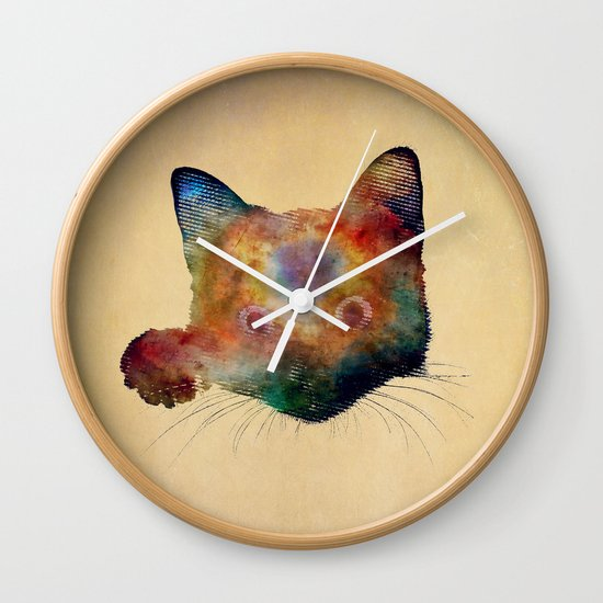 Nebula Cat Wall Clock