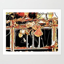 When Buildings Get Demolished Do They Bleed Art Print