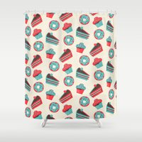 happy birthday Shower Curtains featuring happy birthday  by marella
