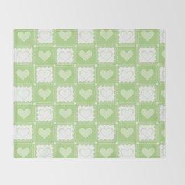 Love is Green Throw Blanket