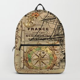 VINTAGE EUROPEAN MAP & SHIP Backpack