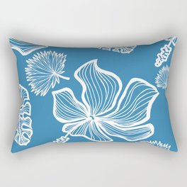 Blue Tropicana Rectangular Pillow