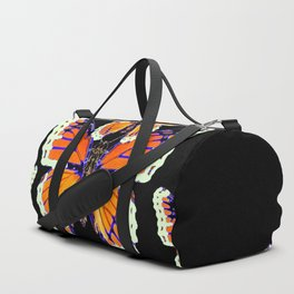 MODERN BLACK COLOR BUTTERFLY ABSTRACT Duffle Bag