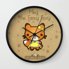 Meg the Fancy Foxy Wall Clock