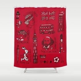 English pattern Shower Curtain