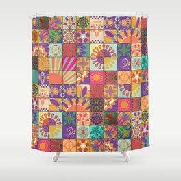 Bohemian Gypsy Hippie Festival Patchwork Shower Curtain