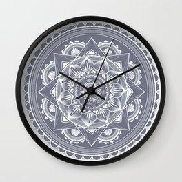Purple Fog Mandala Wall Clock