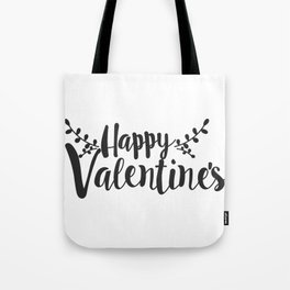 Hand Lettering Happy Valentines Tote Bag