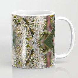 Beautiful white gum blossom mandala Coffee Mug