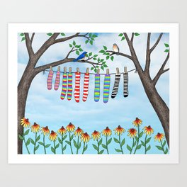 clean socks Art Print