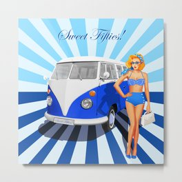 Sweet Fifties Metal Print