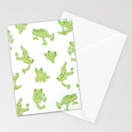 Froggy Frog large green Stationery Cards