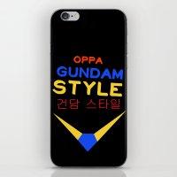 gundam iPhone & iPod Skins featuring Gundam Style by Joynisha Sumpter