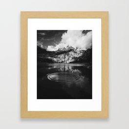 Ripple (Black and White) Framed Art Print