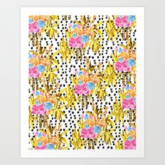 Patterned Bouquet II Art Print