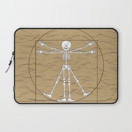 Vitruvian Man Skeleton Cartoon  Laptop Sleeve
