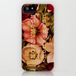 Honeymoon Floral iPhone Case