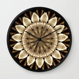 Abstract Sunflower Wall Clock