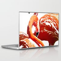 flamingos Laptop & iPad Skins featuring Flamingos by Regan's World