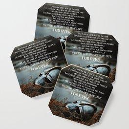 Brave May Live Viking Prayer Coaster