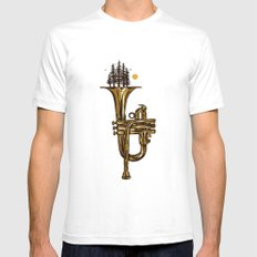 Flora & Fanfare SMALL White Mens Fitted Tee