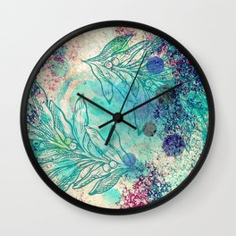 Paix hivernale - Winter peace Wall Clock