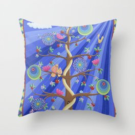 Mandala Tree Throw Pillow