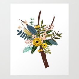 Bold Wildflower Bouquet Art Print