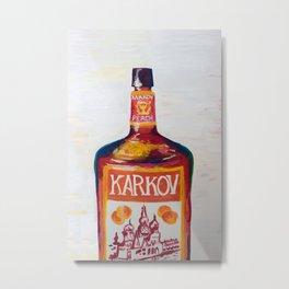 Peach Karkov Metal Print