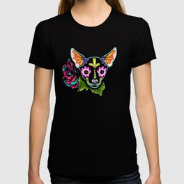 Chihuahua in Black - Day of the Dead Sugar Skull Dog T-shirt