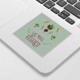 Eat more veggies! Light version Sticker