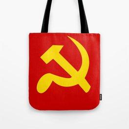 Soviet Union Hammer and Sickle Communist flag. Tote Bag